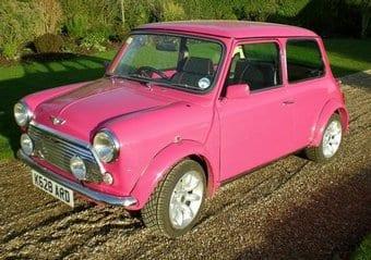 Pink Mini Cooper Car