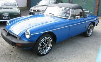 MGB Blue Roadster Car