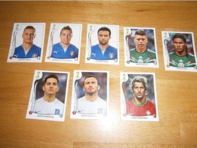 Collectable World Cup Footballer Stickers