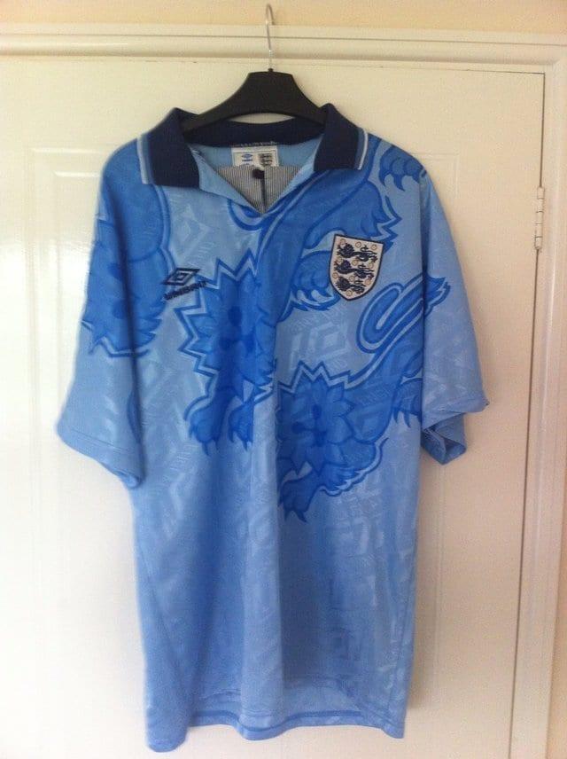 90's England football shirt