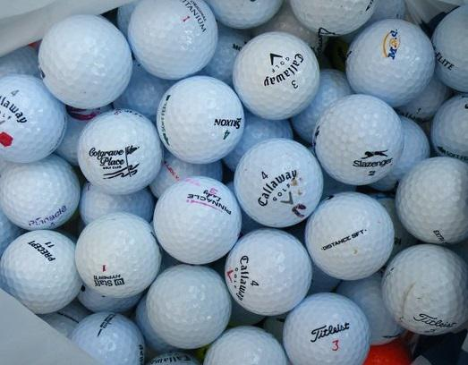Second hand golf balls