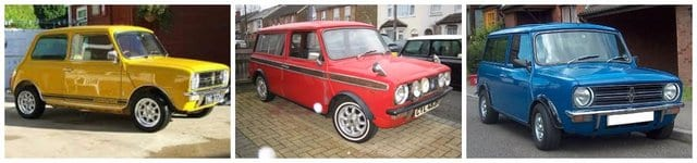 1970's mini cooper cars