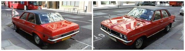 1970's red vauxhall viva cars