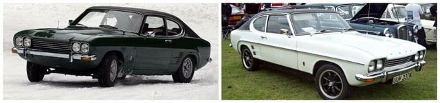1970's ford capri cars