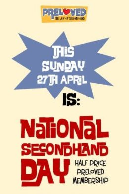 Secondhand Day on Sunday 27th April