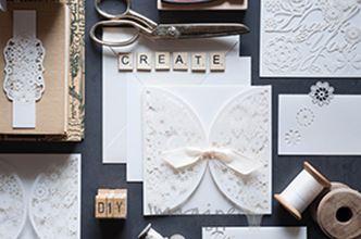 white wedding stationery craft supplies