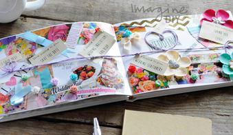 scrap book of wedding stationery ideas