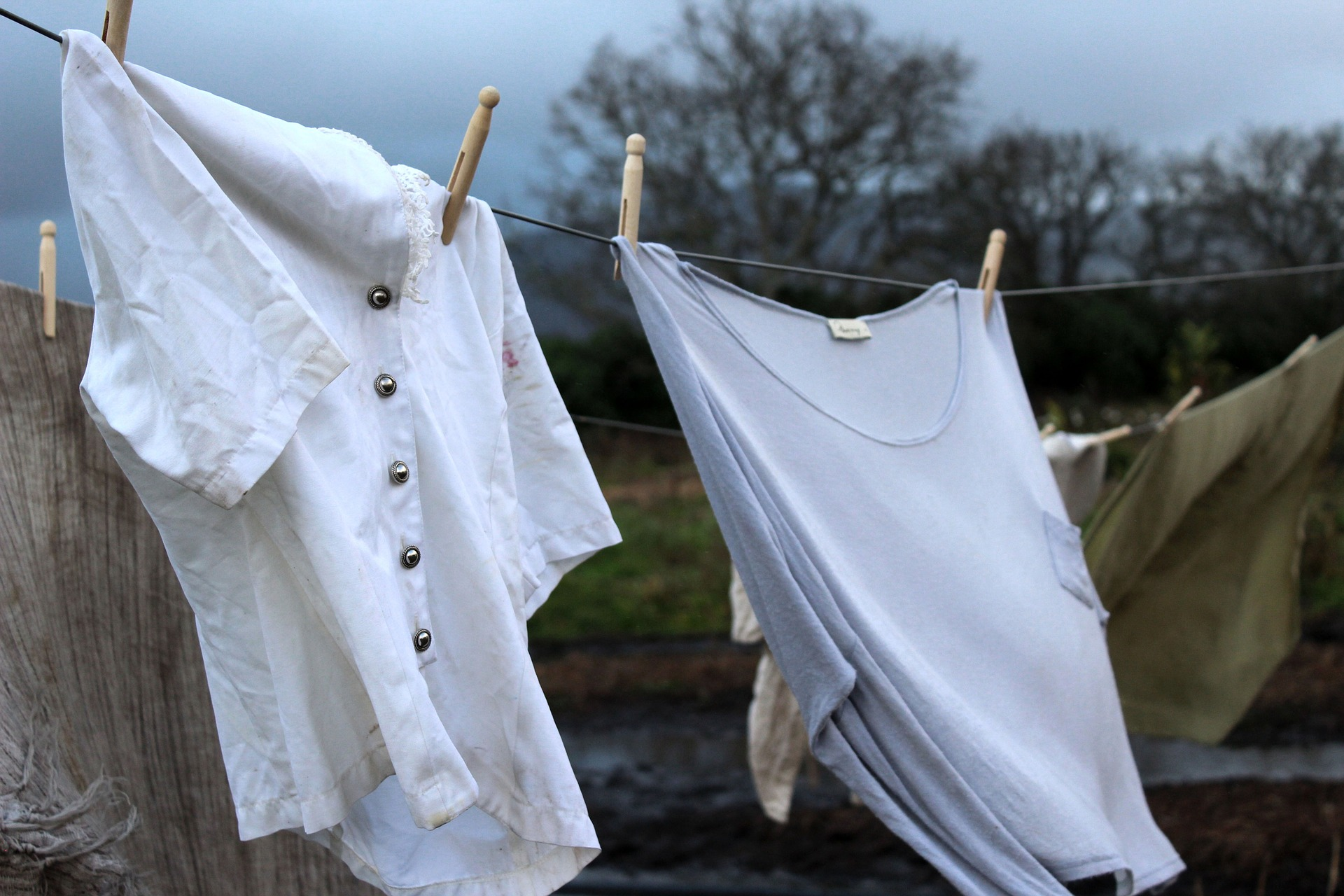 pegging out clothes hygge in spring