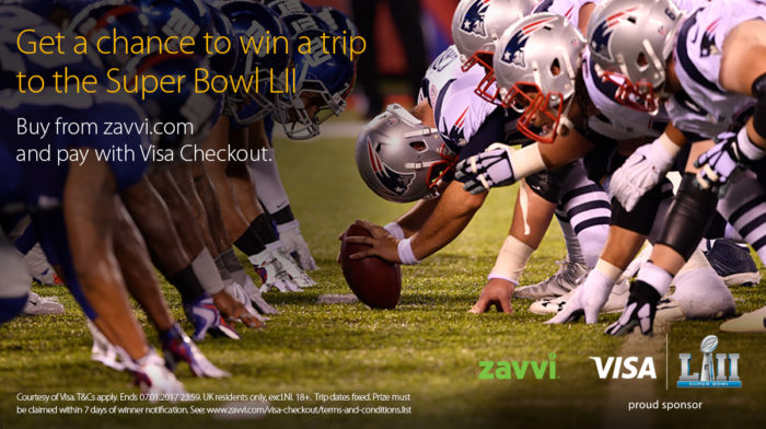 Are you ready to have a chance to win a trip for two to the Super Bowl LII in Minneapolis with Visa Checkout?