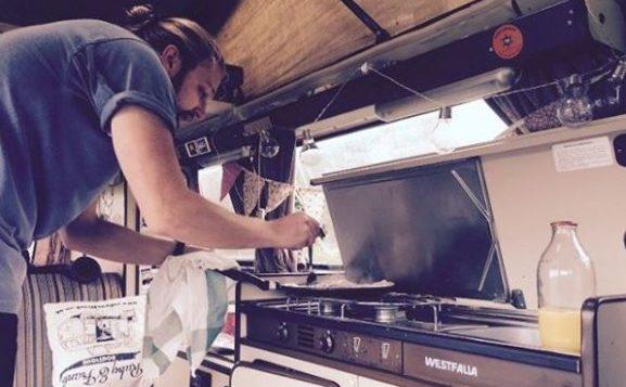 caravan interior stove