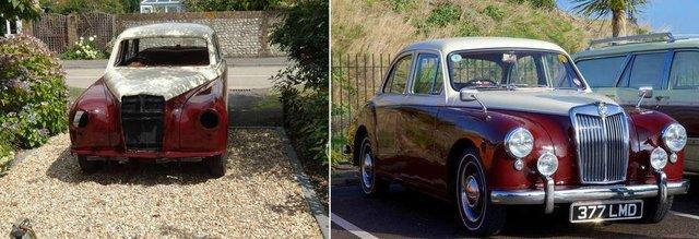 Preloved member Tony's 1957 MG Magnette restoration
