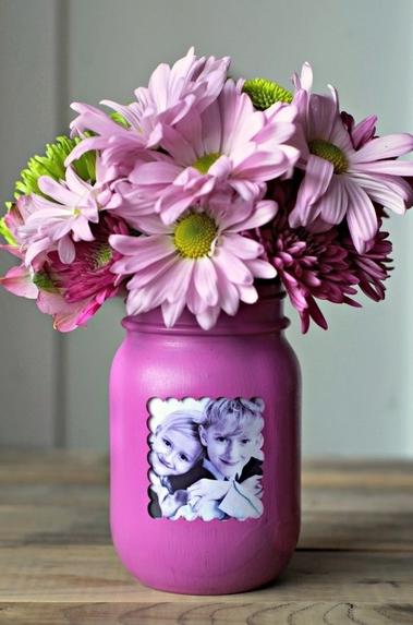 picture flower vase