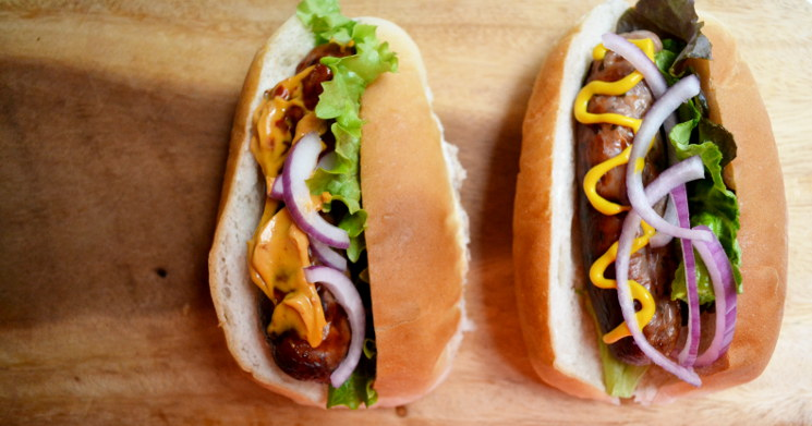 All American Recipes: Hot Dogs and Onion Rings