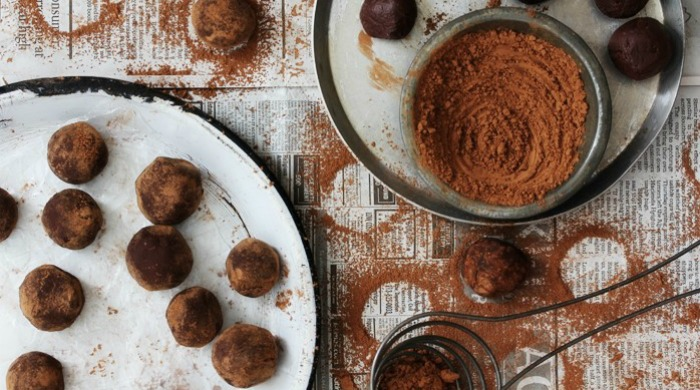 Salted caramel and Irish whiskey truffles.