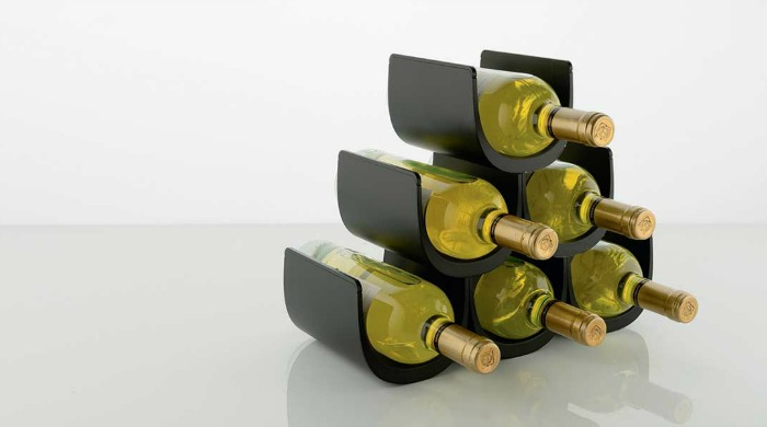 The silver Alessi Noe Modular Bottle Holder.