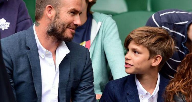 David Beckham and Romeo