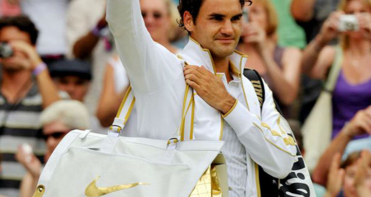 Roger Federer Gold Outfit
