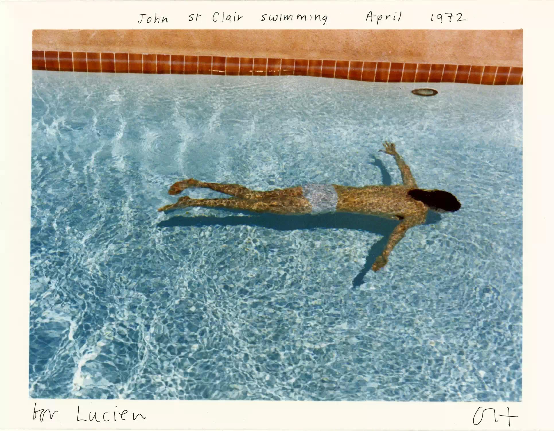 David Hockney John St Clair swimming