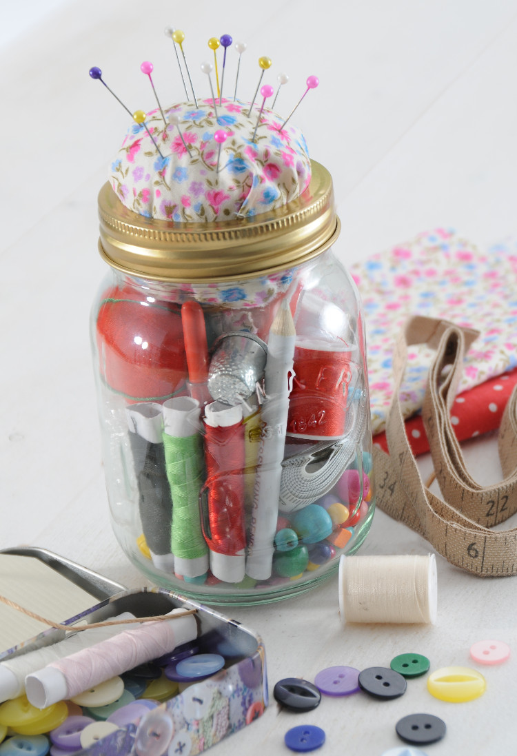 Kilner Jar Sewing Kit