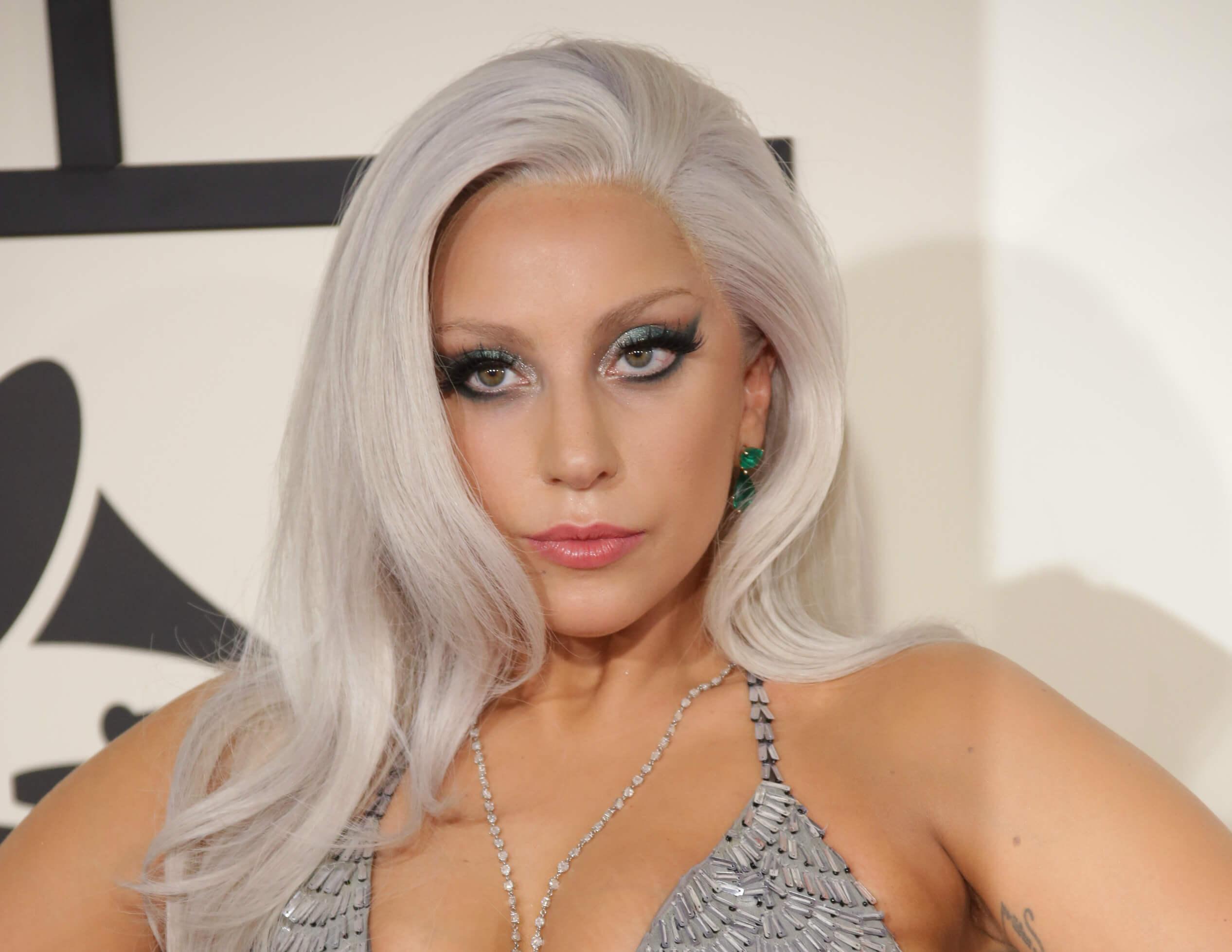 Lady Gaga Silver Grey Hair