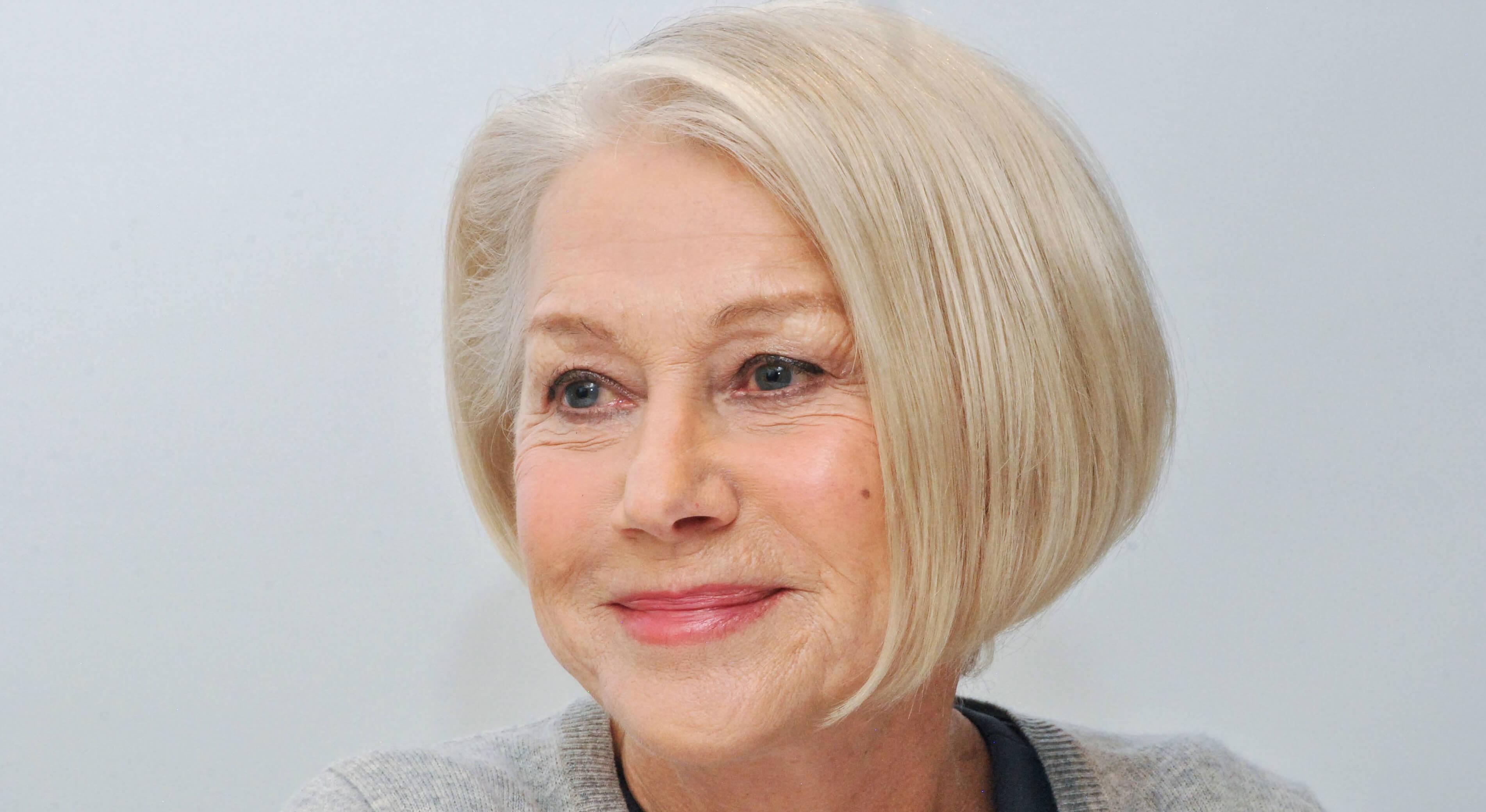 Helen Mirren beautiful grey hair