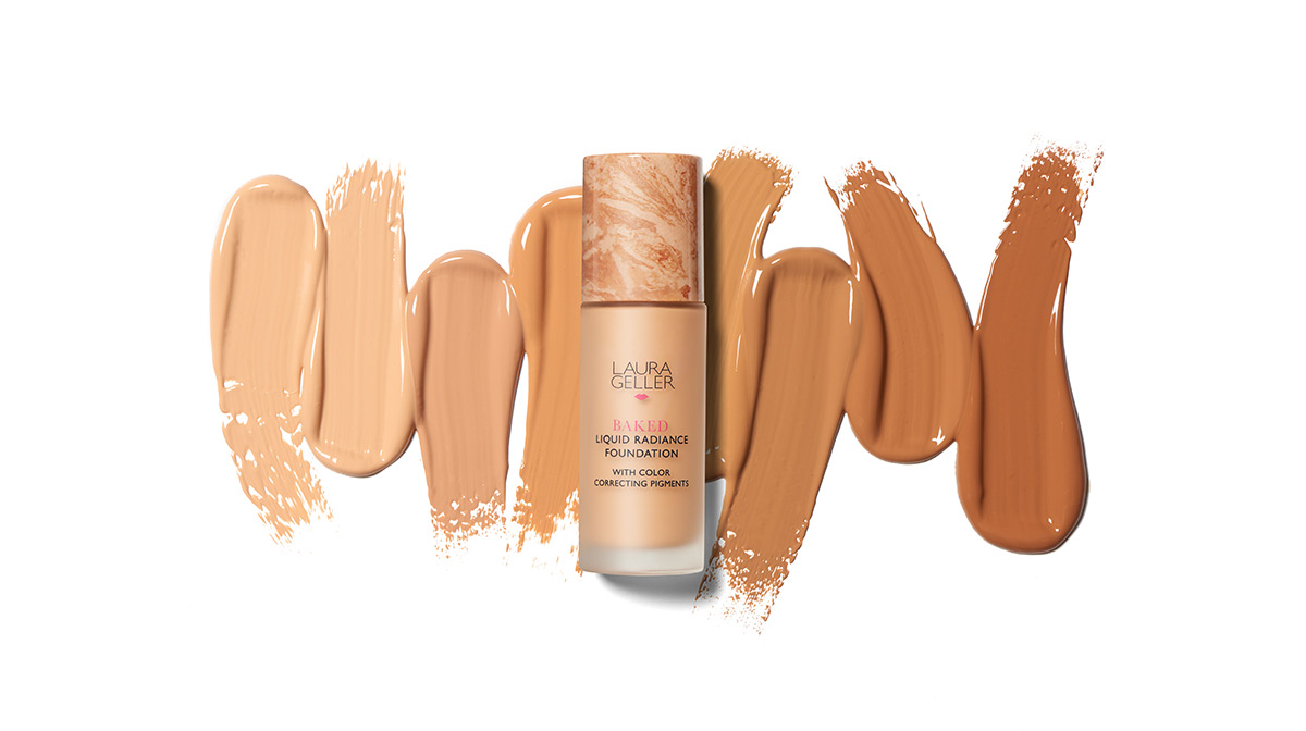 Laura Geller Baked Liquid Radiance Foundation Shades and Swatches