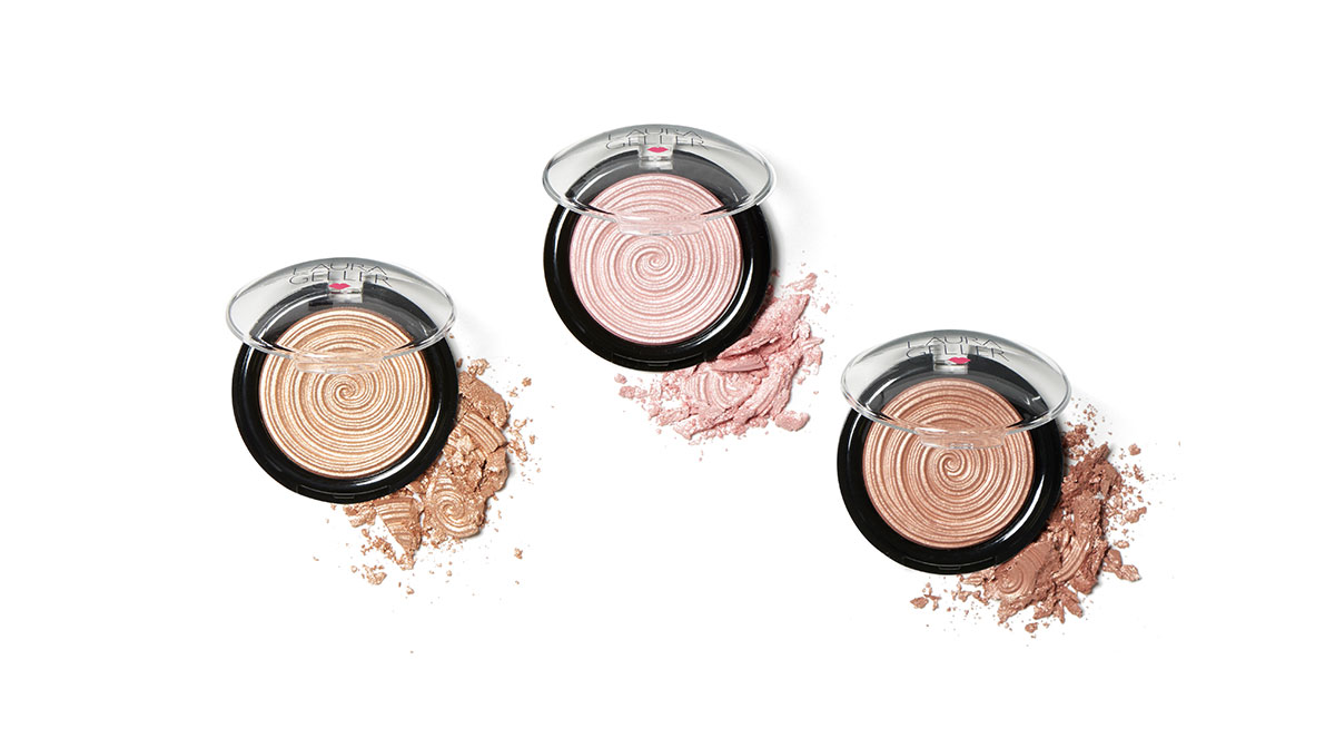 Laura Geller Gelato Swirl Illuminator Highlighter shades and swatches