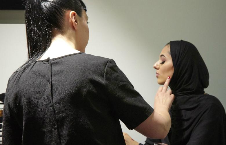 NARS MUA applying makeup