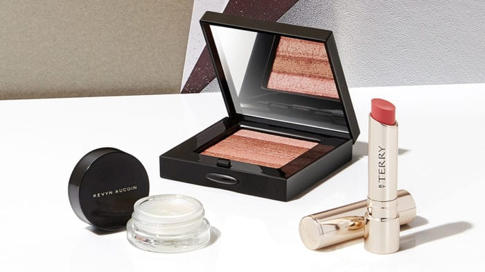 Crystal-inspired makeup products for a high-shine look