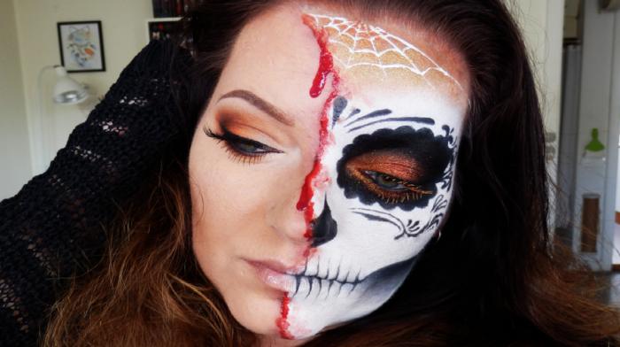 Maquillaje de Halloween Glam Terrorífico