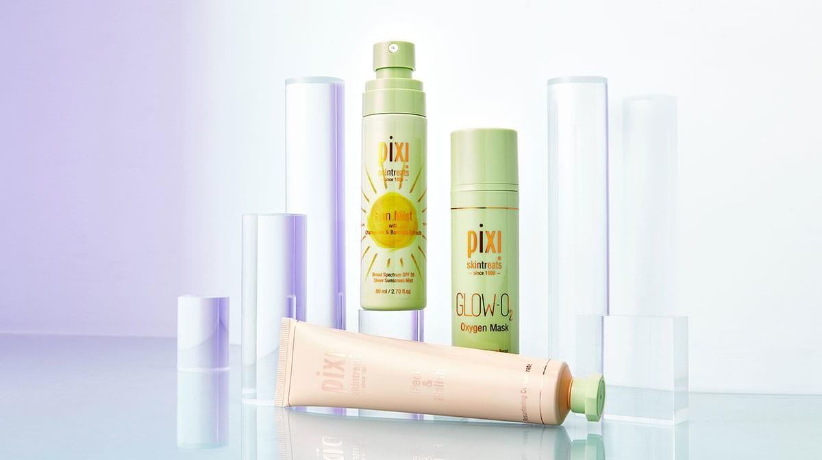 Descubre los productos de cuidado facial de Pixi
