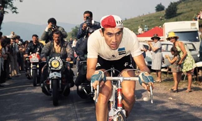 Eddy Merckx cycling for Faema team