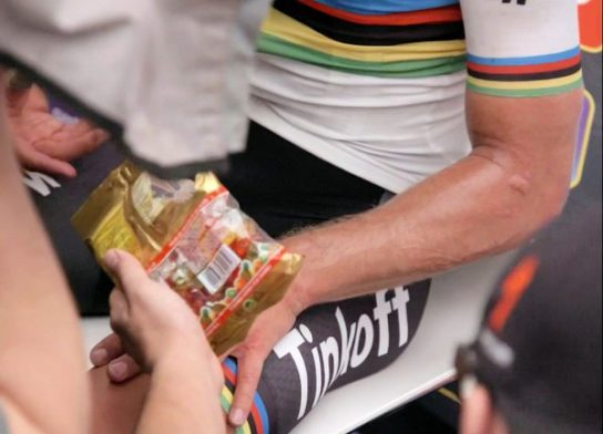 What do the Tour De France riders eat and drink
