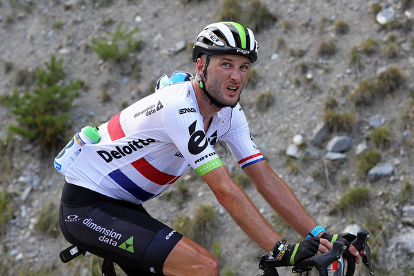 British road race champion steve cummings competing in the tour de france