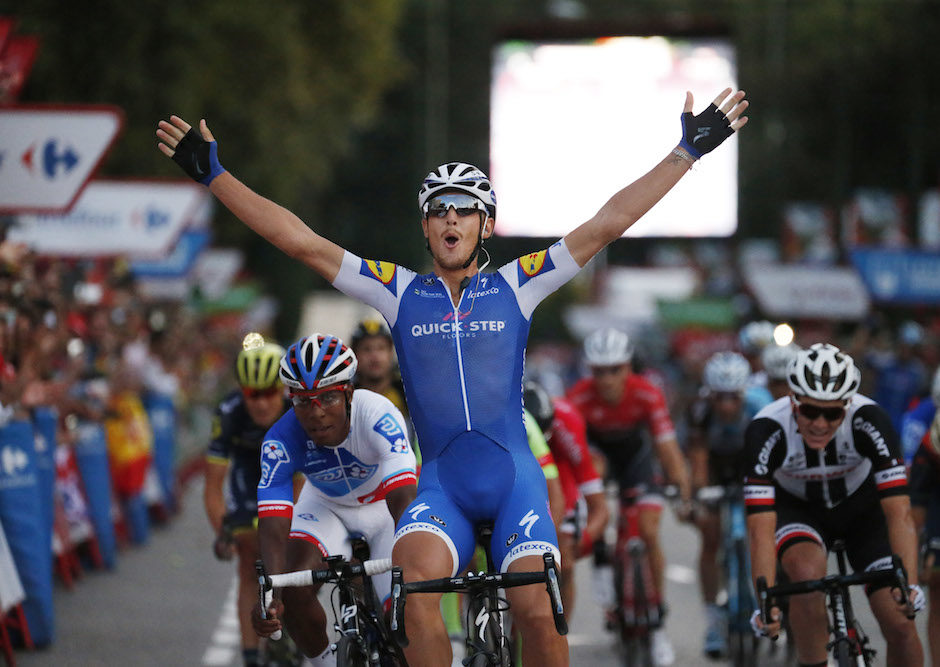 10 September 2017 72nd Vuelta a Espana Stage 21 : Arroyomolinos - Madrid 1st : TRENTIN Matteo (ITA) Quickstep Floors Photo : Yuzuru SUNADA