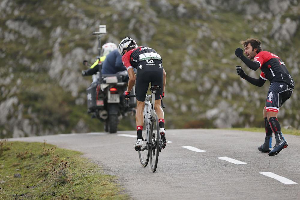 9 September 2017 72nd Vuelta a Espana Stage 20 : Corvera de Asturias - Angliru CONTADOR Alberto (ESP) Trek - Segafredo, at Angliru Photo Source: Yuzuru SUNADA