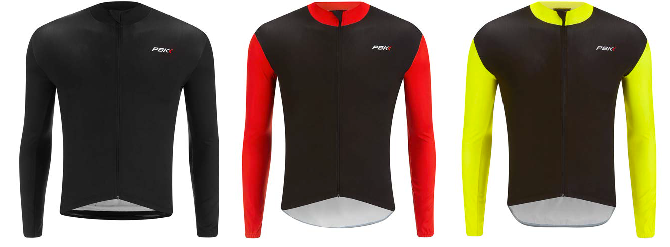 PBK clothing Stelvio Jersey in Black, red and fluro.