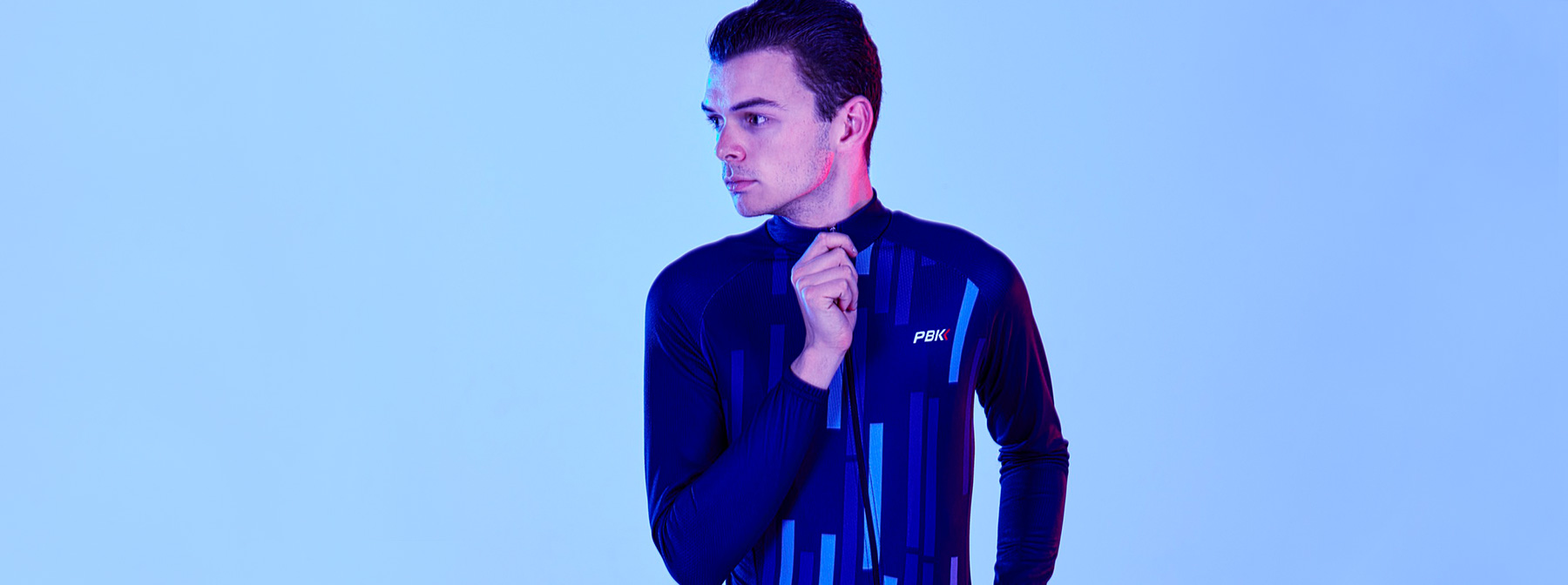 PBK clothing Vello Winter Roubaix Jersey in Blue