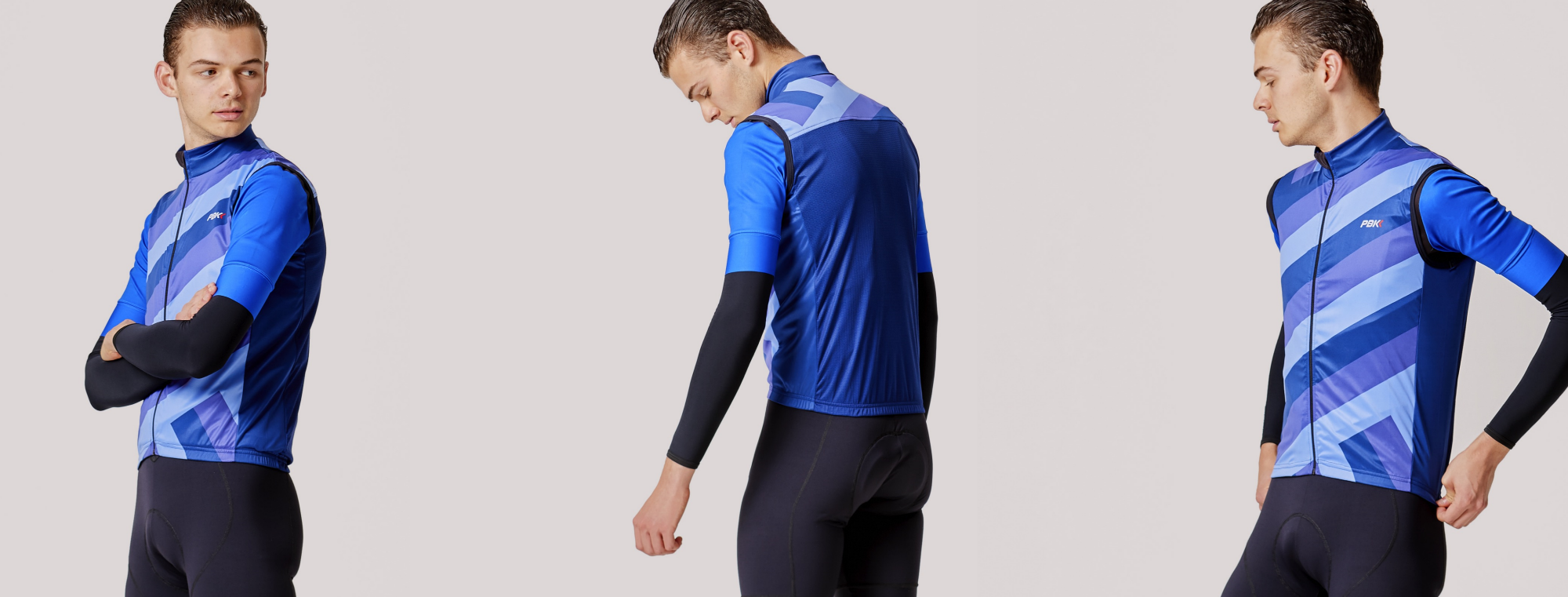 PBK clothing Capra gilet in blue