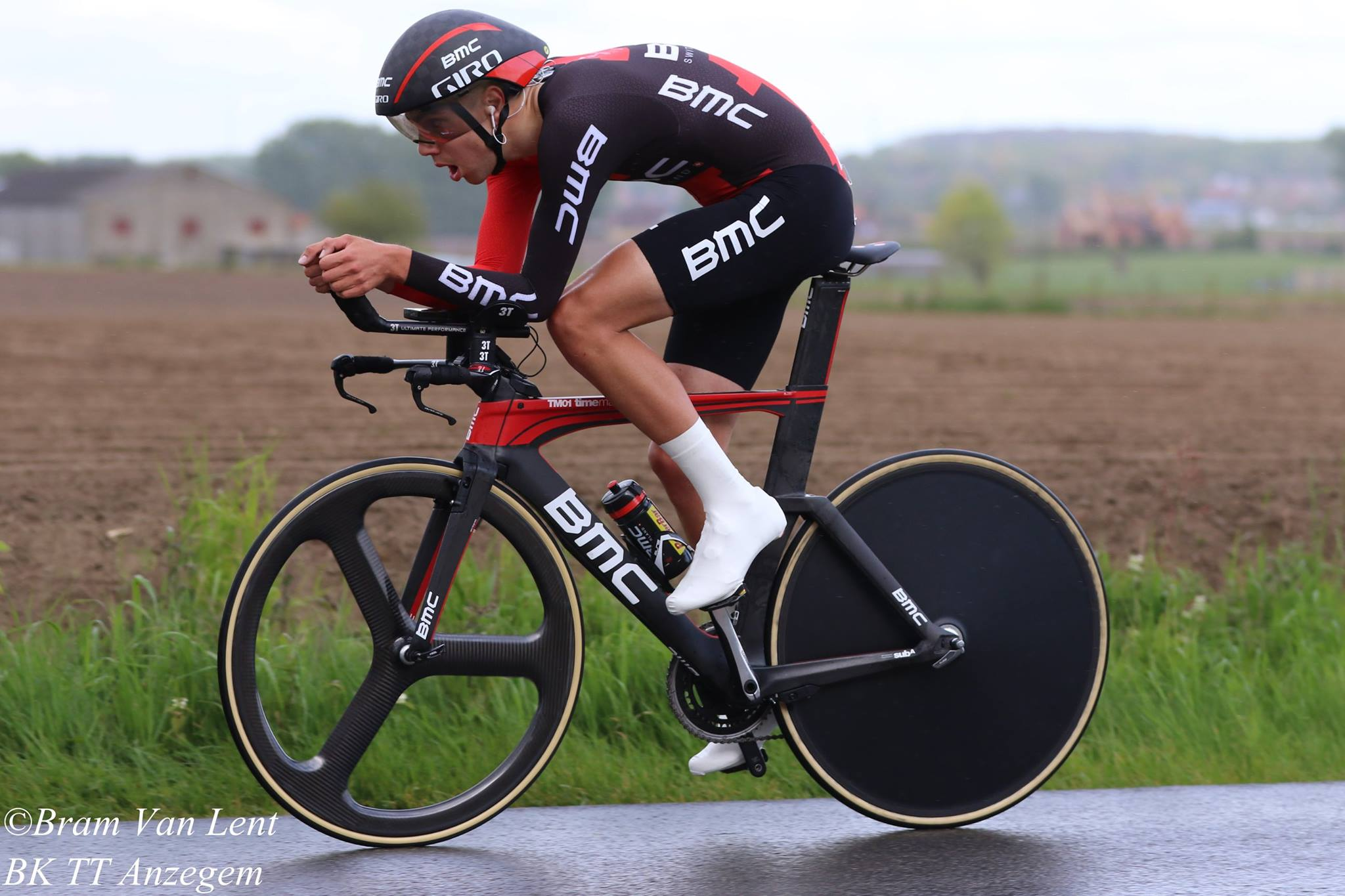 Steff Cras in the National Time Trial Championships for BMC Development