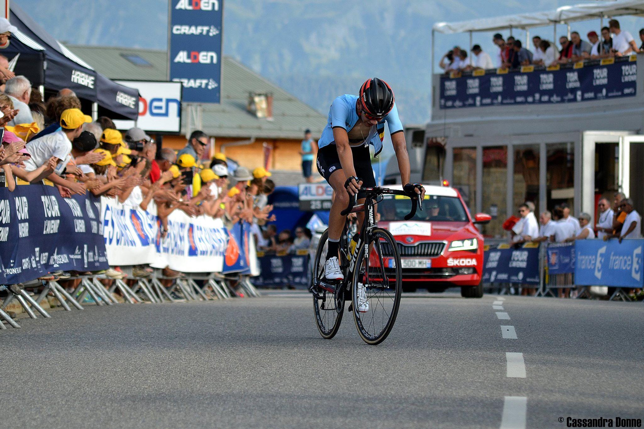 Steff Cras at the Tour de l'Avenir 2017