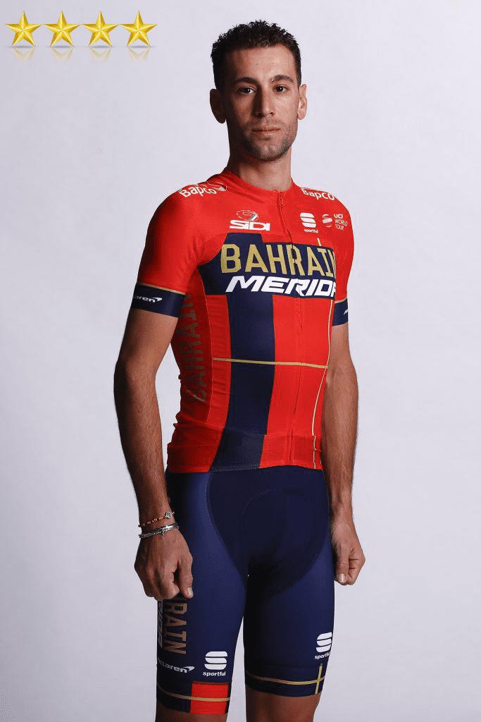 vincenzo nibali in the new bahrain merida pro cycling kit