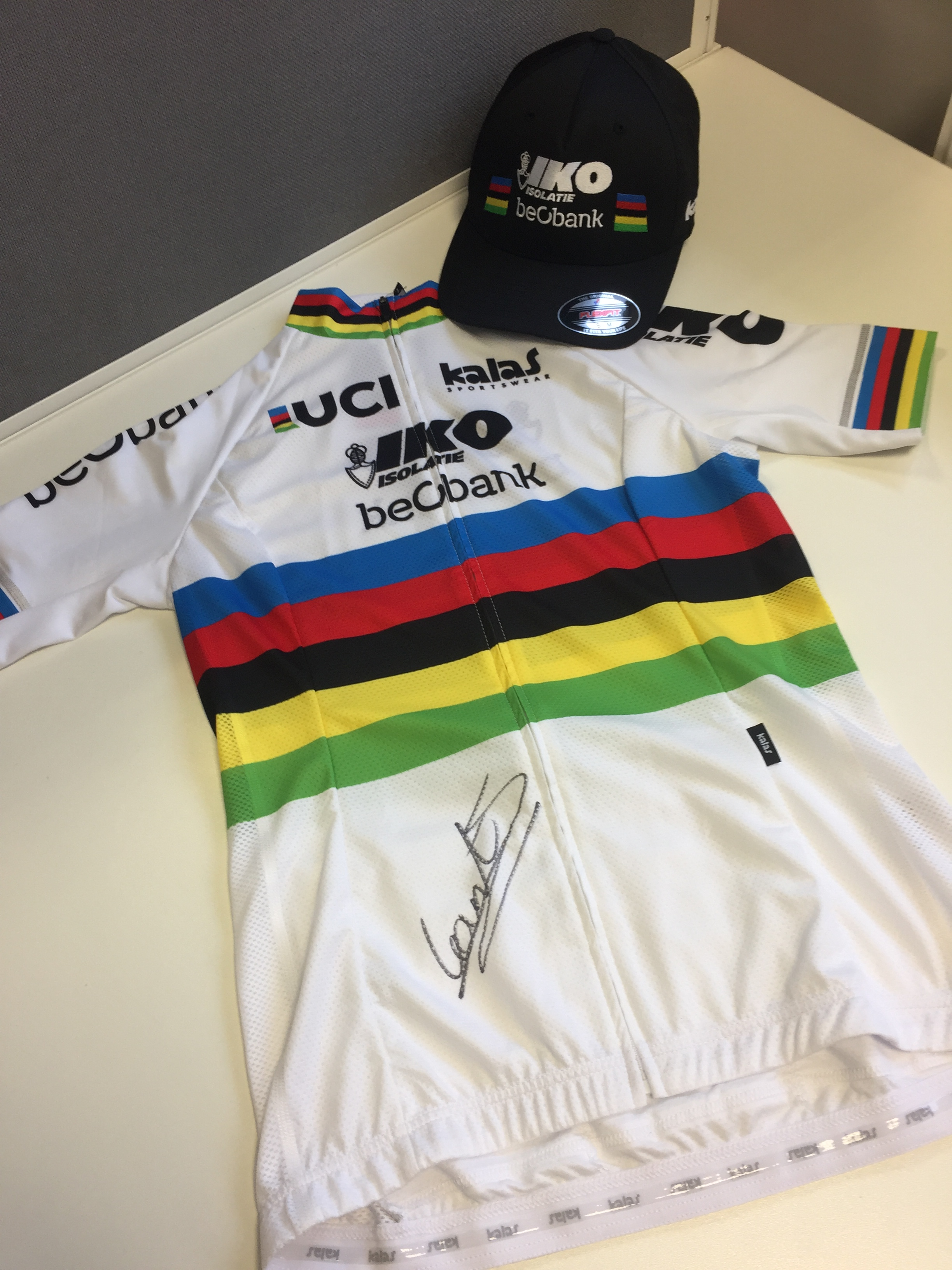 signed world championship jersey from kalas and sanne cant