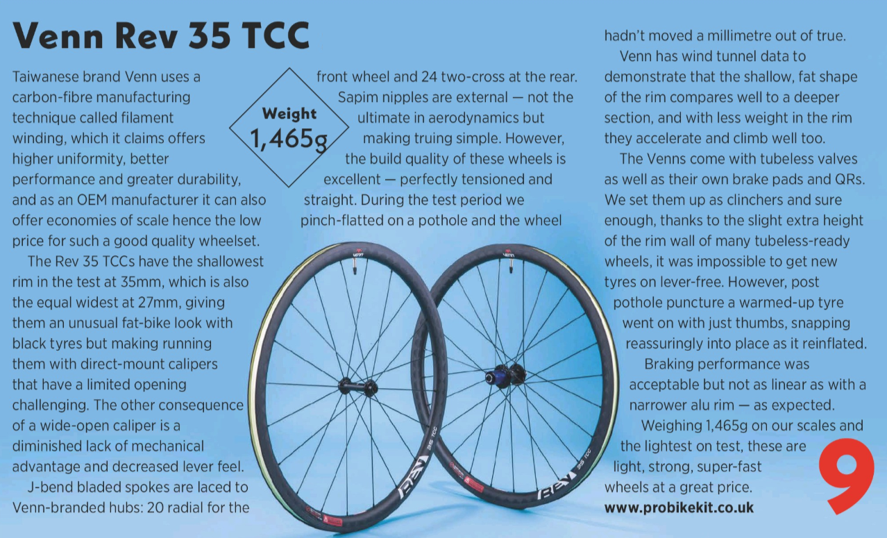 cycling weekly review of venn wheels