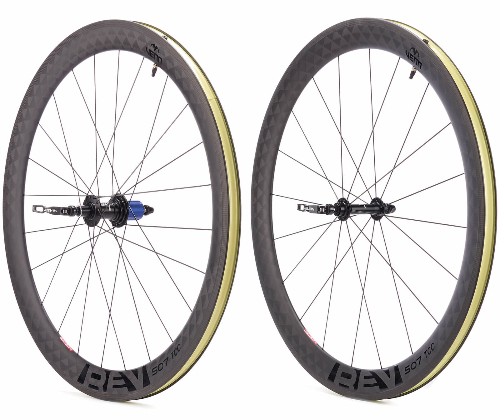 a pair of venn cycling rev 507 wheels