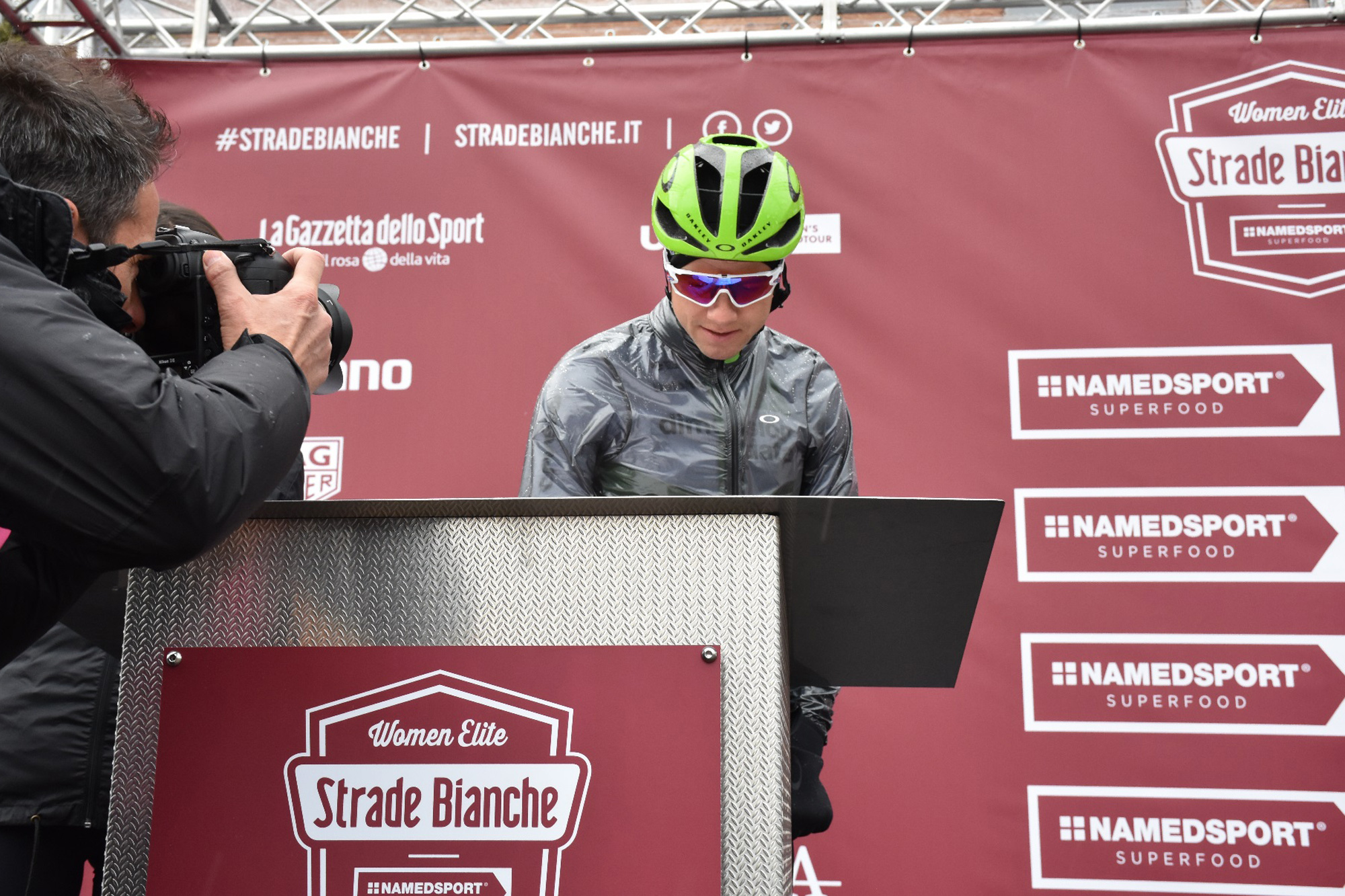 edvald at the sign on of the 2018 strade bianche