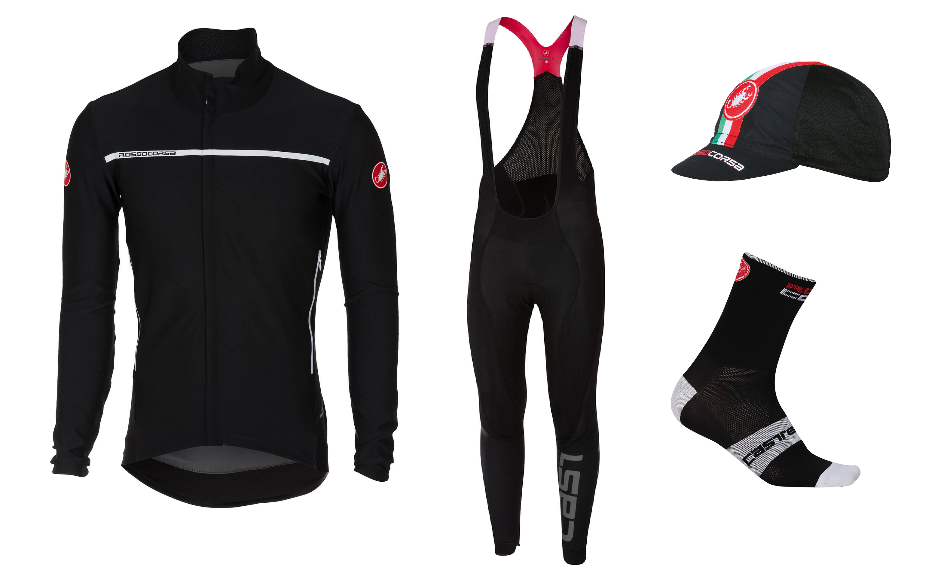 the perfetto jersey and lightweight bib tights in the castelli spring summer 2018 range