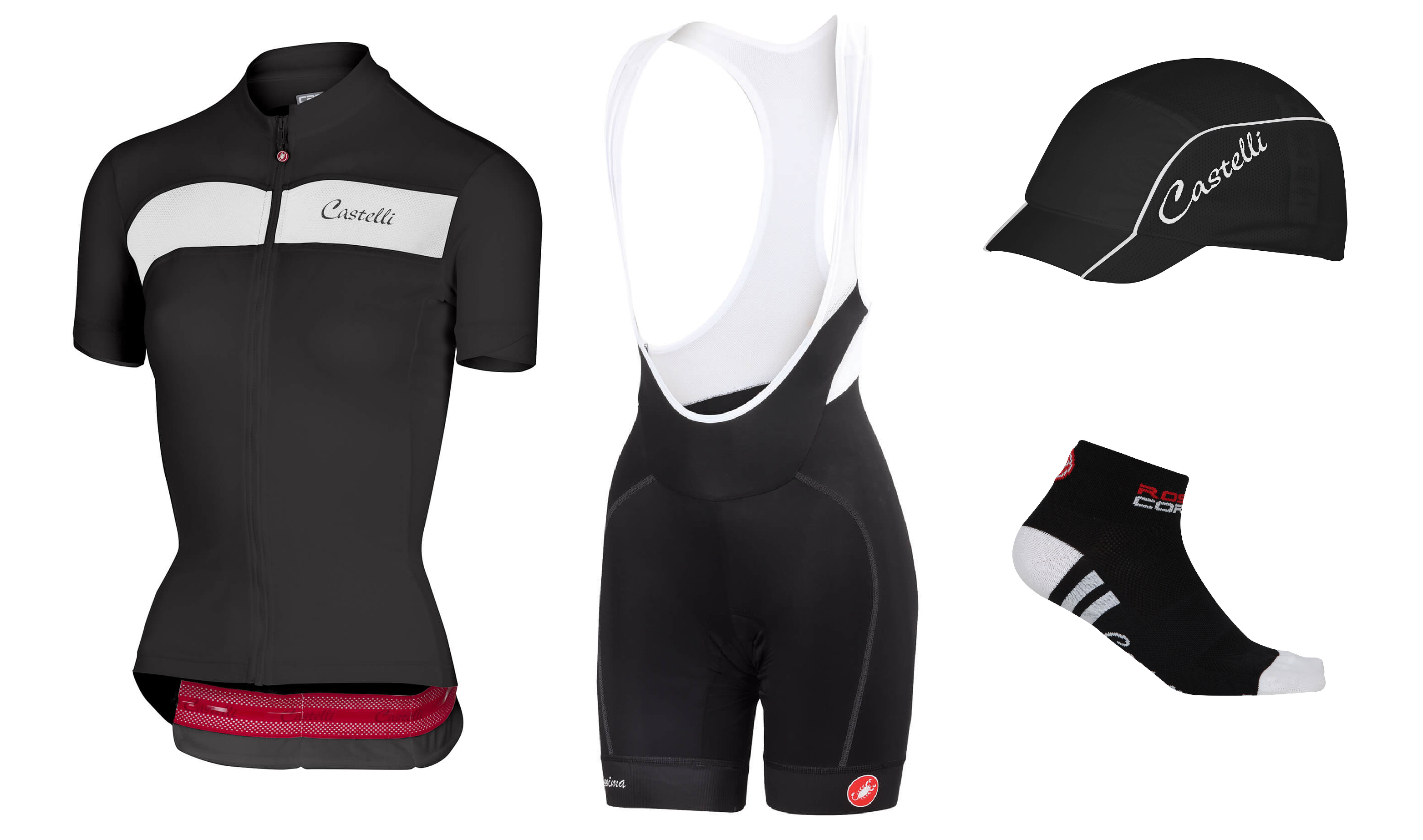 the sheggia and velocissima bib-shorts, key pieces of clothing in the castelli spring summer 2018 women's range