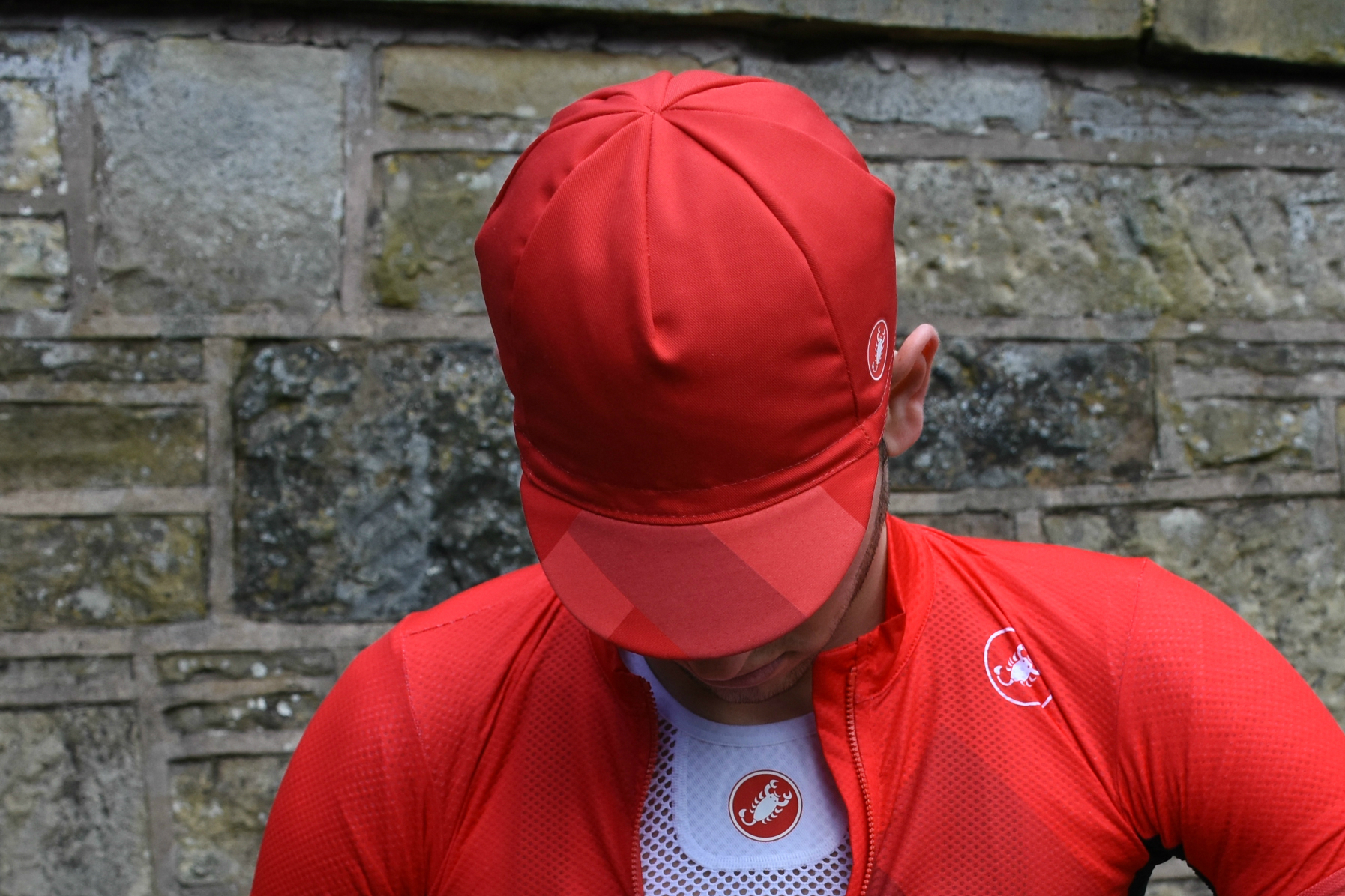 the castelli free cap in red