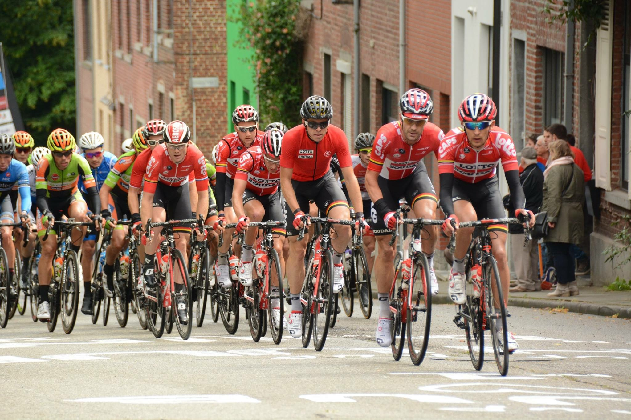 James Shaw racing in Leuven with Lotto-Soudal